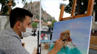 Afyon sokaklarında sanat seferberliği