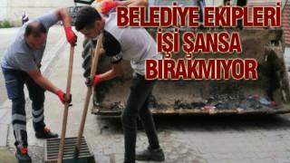 Doğankent'te Belediye ekipleri alt yapıda hassas davranıyor