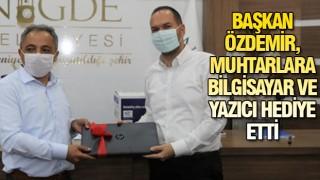 NİĞDE'DE MUHTARLARA BAYRAM SÜRPRİZİ