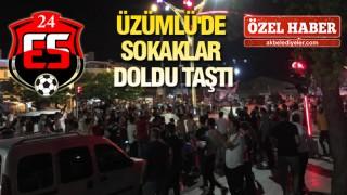Üzümlü'de şampiyonluk coşkusuna vatandaşlar ilgi gösterdi
