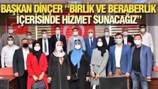 AK PARTİ'DEN BAŞKAN DİNÇER'E ZİYARET