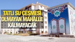 AKSARAY'DA TATLI SU ÇEŞMELERİ YAPILIYOR