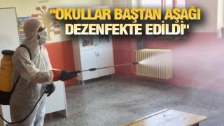 MUTKİ'DE OKULLAR DEZENFEKTE EDİLDİ