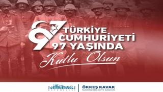 Başkan Kavak'tan Cumhuriyet Bayramı Mesajı